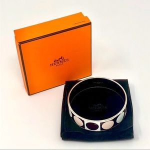 Hermès Deco Dot Wide Enamel Bangle